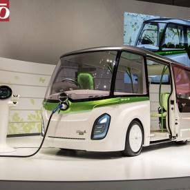 HINO Poncho Mini EV comunity bus concept