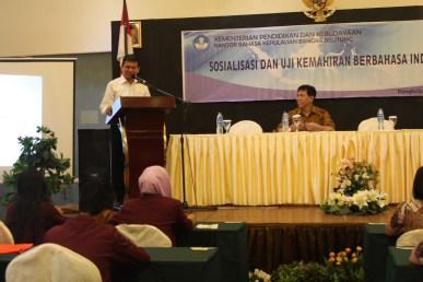 Sambutan Kepala Kantor Bahasa Kepulauan Bangka Belitung, Drs. Hidayatul Astar, M.Hum.