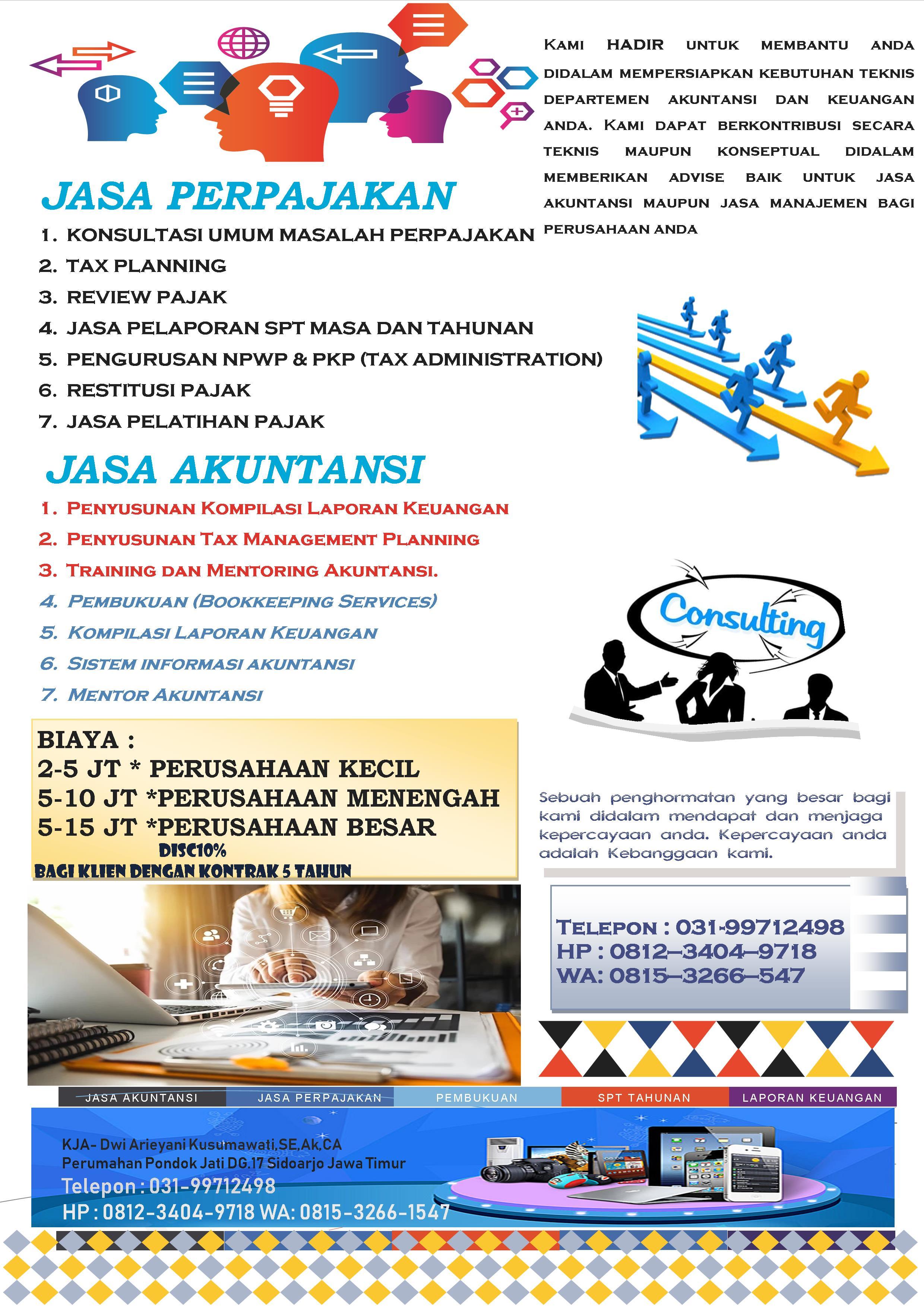 Brosur Kantor Jasa Akuntansi Dan Konsultan Pajak Dwi