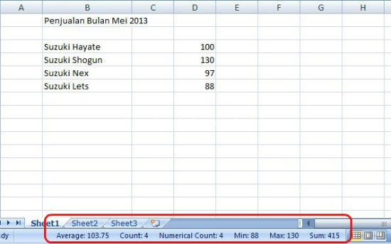 Auto Calculate pada ms excel