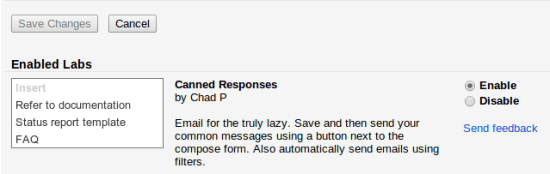 Mengaktifkan Template Email Canned Responses