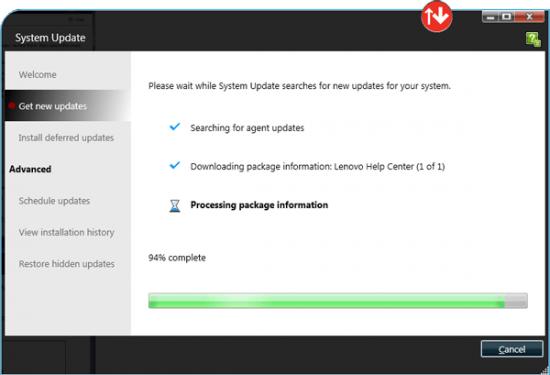 Cara Install Driver Lenovo Menggunakan ThinkVantage System Update 3