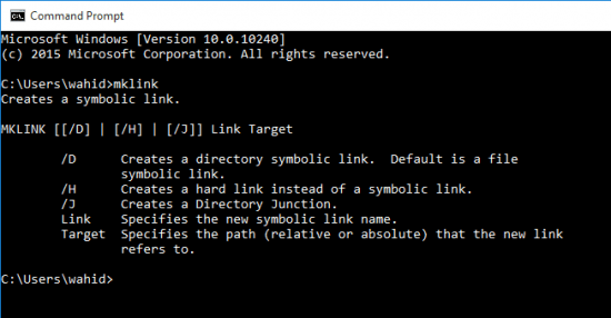 mklink di Command Prompt CMD
