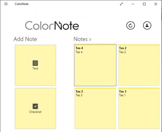 ColorNote for Windows 10