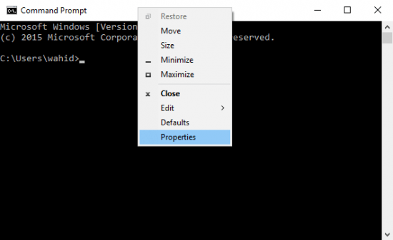 Cara Mengganti Warna Font dan Background Command Prompt Windows 10
