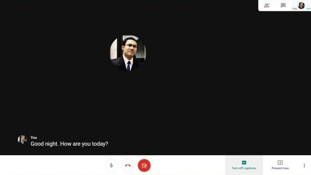 Caption Subtitle Google Meet