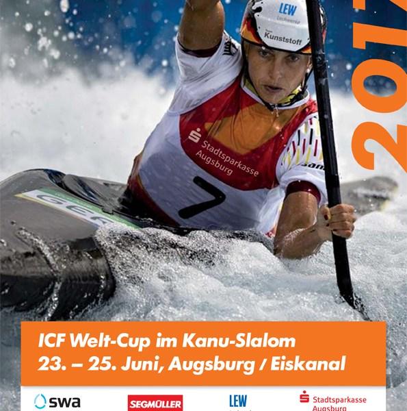 ICF Weltcup im Kanu-Slalom in Augsburg im Eiskanal