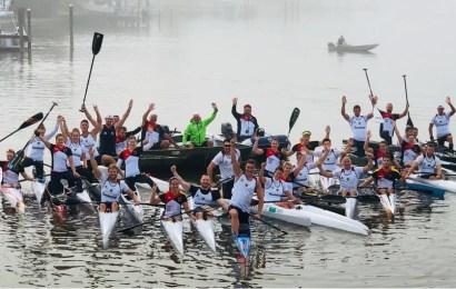 Die Kanu-Rennsport Nationalmannschaft für zu Hause