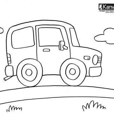 gambar mewarnai anak paud: Gambar Mobil Toyota
