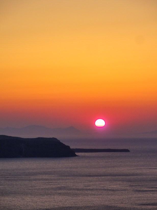 Sunset viewed from Archipelagos, Fira