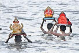 Ganpati immersion: Photo from the Hindu Business Line