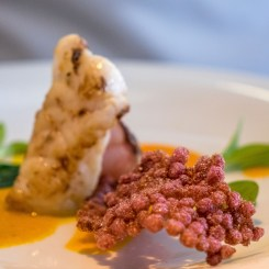 Monkfish with sea buckthorn