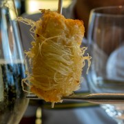 Scorpion fish mousse with katafi Arzak