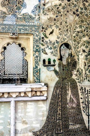Intricate inlay work at City Palace Udaipur