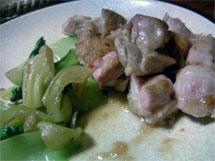 鶏・青梗菜