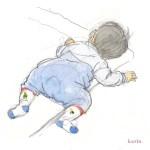 赤ちゃんの水彩画2