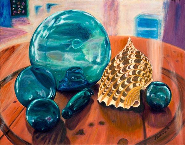Painting by Dennis Okada.