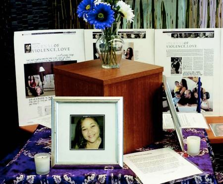 The event featured the tragic stories of victims of domestic violence – Cynthia Lee Sinclair