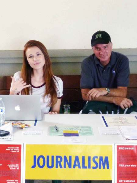 Gracie Berkley and Patrick Hascall help promote WCC journalism – Cynthia Lee Sinclair