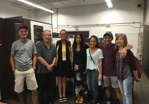 JOUR 285V students take a tour of the Hawai'i Hochi, the printer of Ka 'Ohana – Patrick Hascall