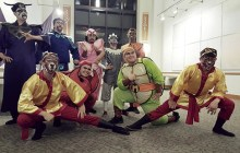 The Monkey King cast poses after a performance at WCC's Paliku Theatre - Courtesy of Nick Logue