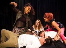 The cast of Noa Helela's comedy Demigodz at Kumu Kahua Theatre – Courtesy of Paul Soria