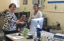 (from left) Kathy Helfrich, Daniel Oka and Danielle Mejia – Cynthia Lee Cinclair
