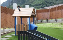 A gated playground area was constructed for the new daycare center on the first floor of Hale 'Akoakoa –EZZIO LAVARELLO