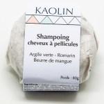 Shampoing solide pour les cheveux à pellicules zéro déchet naturel écologique