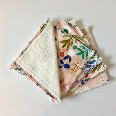 lingettes lavable chanvre et coton