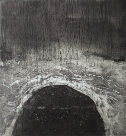 Flowing-BC1 Etching・Drypoint・ Aquatint・BFK Rives・Gampi-Paper(Mino) エッチング・ドライポイント・アクアチント・BFK紙・雁皮刷り・美濃和紙 image size H30cmxW27.4cm ed.12 2017