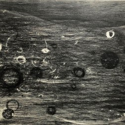 Flowing I Etching・Drypoint・ Aquatint・BFK Rives・Gampi-Paper(Mino) エッチング・ドライポイント・アクアチント・BFK紙・雁皮刷り・美濃和紙 image size H50cmxW38cm ed.12 2017