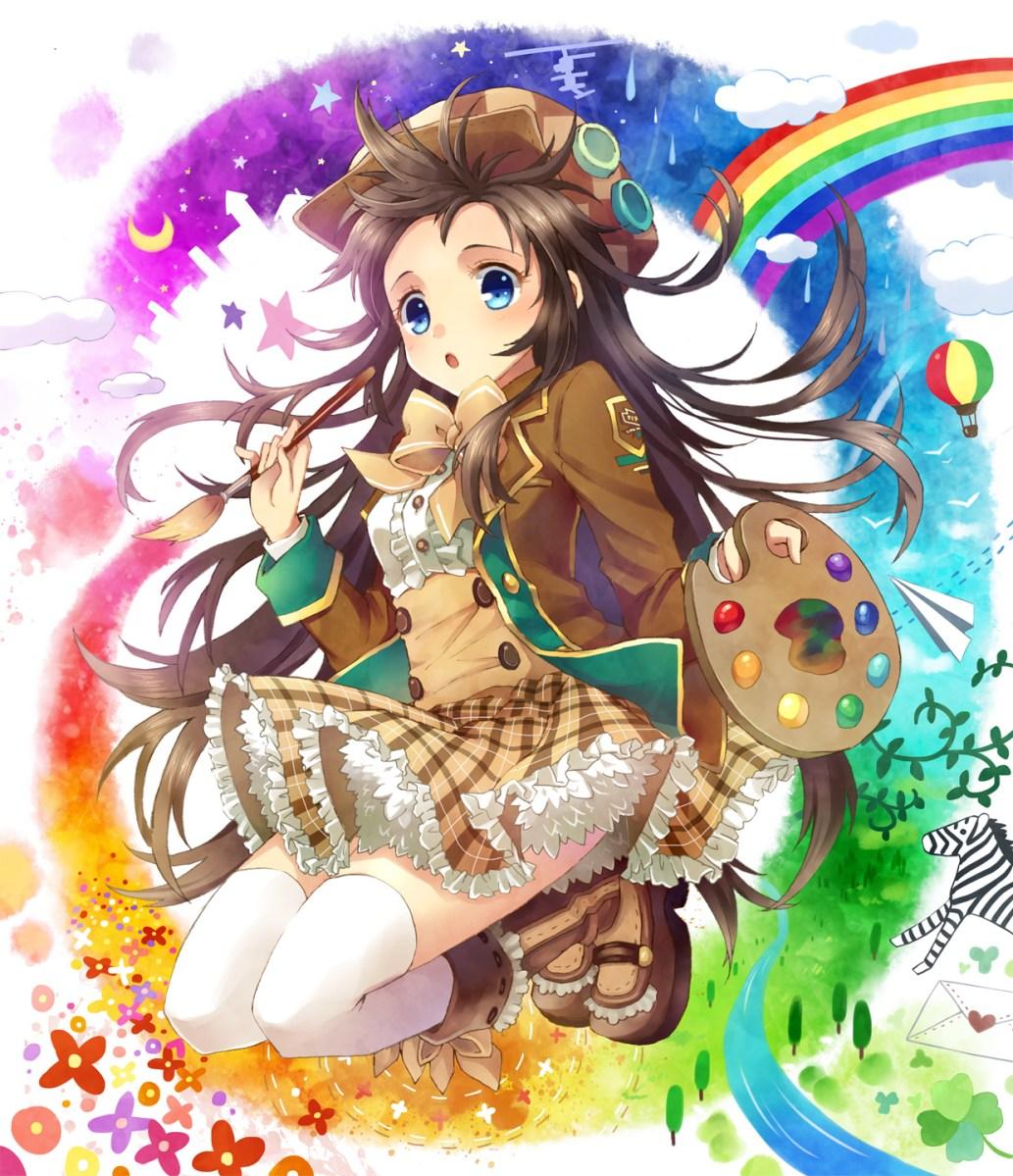 Anime Girl Painting Art