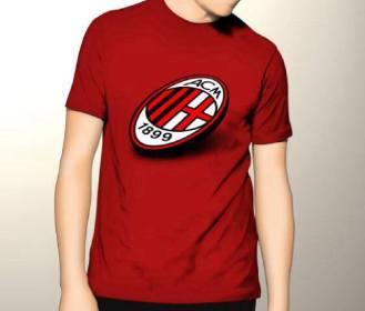 Kaos Milan Logo RED