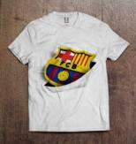 Kaos Barca Logo WHITE Inside