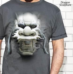 Kaos Kepala Naga | Dragon Sculpture GREY