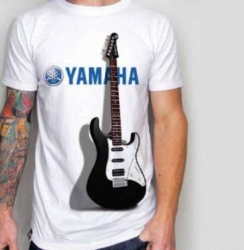 Kaos GITAR YAMAHA, Electric Guitar 3D T-shirt