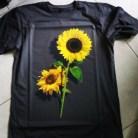 Kaos Sun Flower GREY, Kaos Bunga Matahari