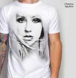 kaos christina aguilera, 3d t-shirt musik, pop music t-shirt 3D, kaos 3 dimensi aguilera