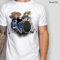 Kaos DRUM SET 3D, Kaos 3D Gambar Drum