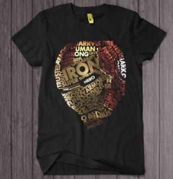 Iron Man Typhography