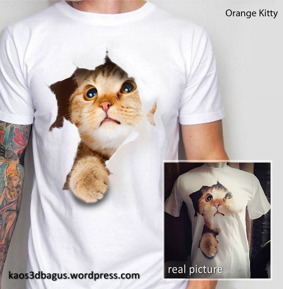 Jual KAOS 3D Gambar KUCING Kaos CAT LOVER 3D Kaos Pecinta Kucing