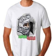 Kaos 3D Save Gaza, Palestine