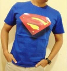 Kaos SUPERMAN LOGO S 3D, Kaos 3D Superhero