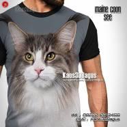 Maine Coon Indonesia, Kaos Kucing MaineCoon, Kaos Kucing Lucu, Kaos Anak Kucing, Kucing Mania
