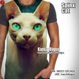 SPINX CAT, Kaos KUCING, Kaos3D, Animal Lover, Kaos CAT LOVER