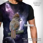 Kaos Gambar Burung Branjangan, Kaos Branjangan Bird, Kaos3D, Kaos Burung, Penggemar Burung Branjangan