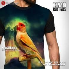 Kaos Burung Kenari, Kenari Merah, Kaos Gambar Burung, Kaos3D, Kaos BURUNG KICAU, Kicau Mania 3D