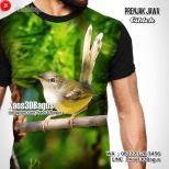 Kaos BURUNG CIBLEK, Ciblek Mania, Kaos Gambar Burung