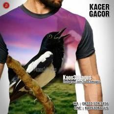 Kaos BURUNG KACER, Kacer Mania, Klub Burung Kacer, Kaos3D